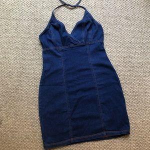 Aqua Blues 90s Demin Dress
